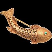 Van S. Authentics Fish Brooch