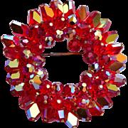 Red Crystal Brooch