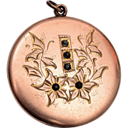 RBM Atrice Etched Locket with Stones