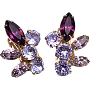 Coro Purple Color Change Earrings