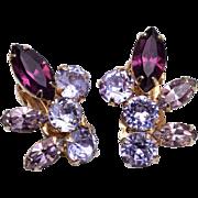 Coro Purple Color Change Earrings