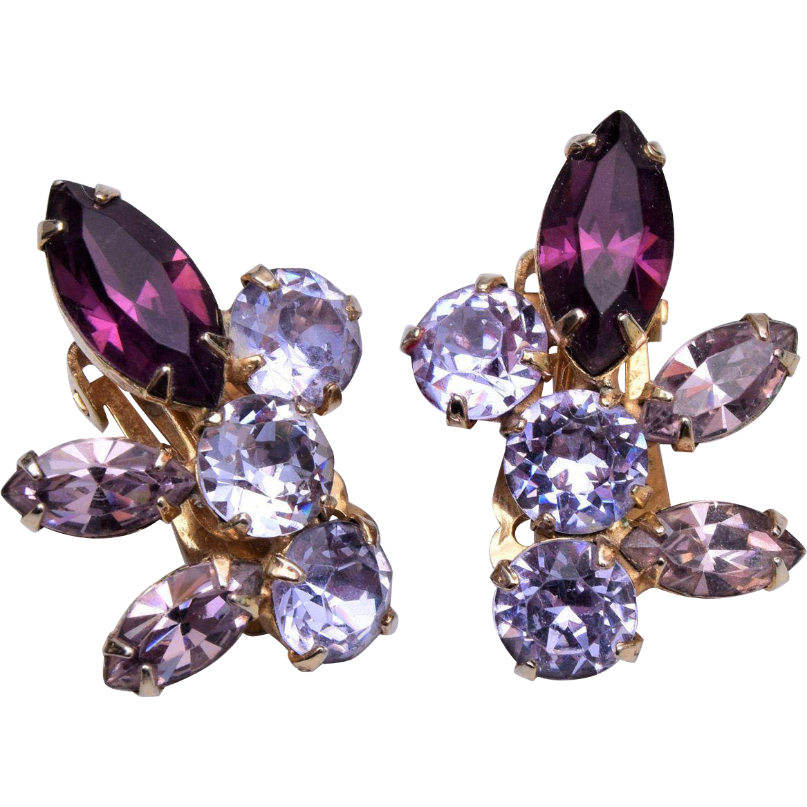 chagne colored earrings coro purple color change earrings from wrightglitz on ruby 708