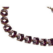 Purple Rhinestone Necklace - Bogoff