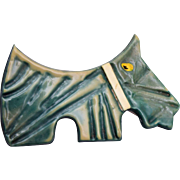 Celluloid Scotty Dog Brooch