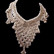 Silver Bib Necklace