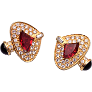 Weinberg New York Rhinestone Earrings