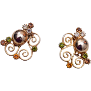 Alice Caviness Rhinestone Earrings