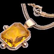 Large Topaz Crystal Necklace