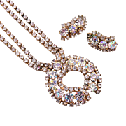 Duanne Rhinestone Necklace and Earring Set