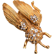 Hattie Carnegie Trembler Fly Brooch