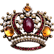 Weiss Crown Brooch or Pendant