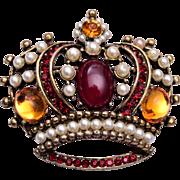 Weiss Crown Brooch or Pendant