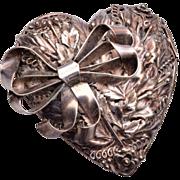 Hobe' Sterling Heart Brooch