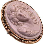Bacchante Maiden High Relief Cameo