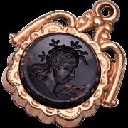 2 Sided Stone Intaglio Watch Fob