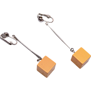 Bakelite Square Dangle Earrings