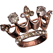 Small Crown Brooch