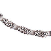 Beautiful Trifari Rhodium Plated Bracelet
