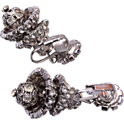 Hattie Carnegie Chandelier Rhinestone Earrings