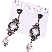 Shoulder Tickling Banana Bob Pierced Earrings