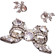 Eisenberg Original Brooch and Earring Set