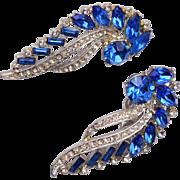 Astra Blue Rhinestone Earrings