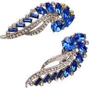 Astra Blue Rhinestone Earrings