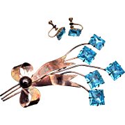 Sterling by Jordan Brooch and Earring Set