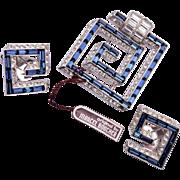 Phrygian Mark Marcel Boucher Fur Clip and Earrings