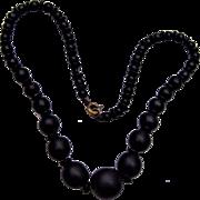 Antique Jet Beaded Necklace