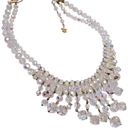 Faceted Dangling Crystal Necklace