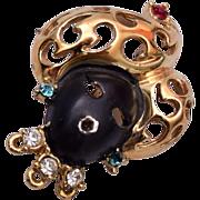 Blackamoor Brooch with Gold Turban