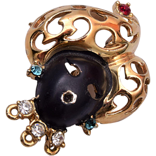 Blackamoor Brooch with Gold Turban