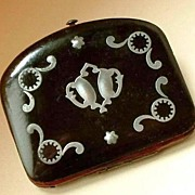 VICTORIAN Antique CELLULOID Purse Coin Change Case c.1870's!