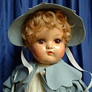 SIGNED Madame Alexander BABY GENIUS  Composition Doll ORIGINAL Clothes Tagged & ALL COMPLETE 8 Piece Set c.1938!