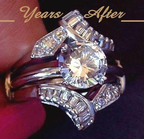 vine 14k white gold diamond ring guard jacket vs1 vs2 diamonds - Wedding Ring Jackets