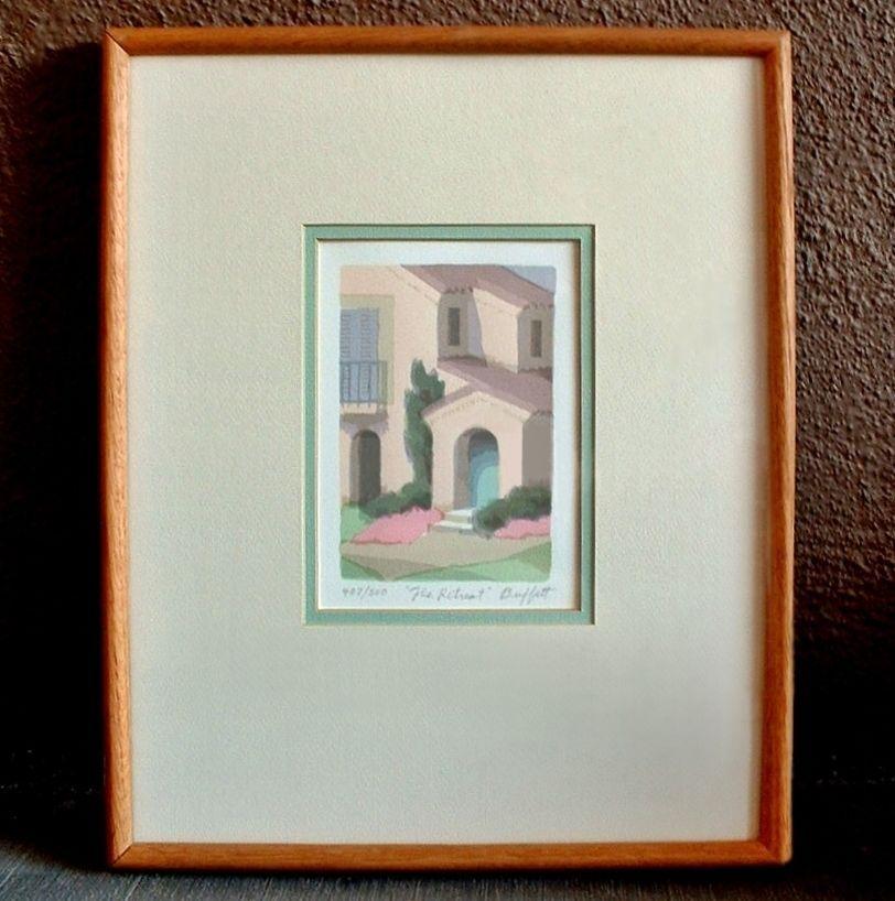 Framed WILLIAM BUFFETT Artist Serigraph Silkscreen Print  SIGNED Numbered The Retreat!