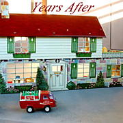 Vintage MARX Tin Litho DOLL HOUSE Dollhouse 51 Pieces FURNITURE BOX Original Packaging c.1950's!
