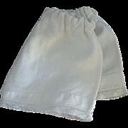 ANTIQUE Bebe DOLL Pantaloons DRAWERS Undergarment White LACE Trim Pin Tucks c.1900's