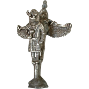 RARE Old Pawn Native American STERLING Silver KACHINA Dancer Figurine MINIATURE Sculpture c.1940s