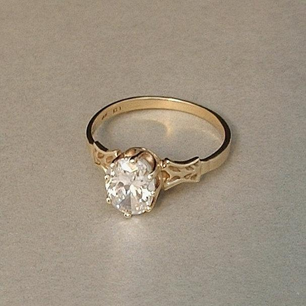 Vintage Genuine 10K GOLD RING Victorian Wedding Design Brilliant