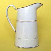 FINAL REDUCTION - French Enamelware Pitcher - Near Mint Condition