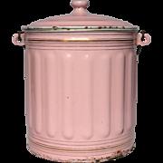 PINK Enameled French Graniteware Bucket - Pail