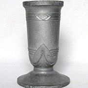 French Art Deco Metal Vase - circa 1920