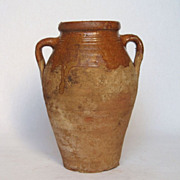 19th Century French Glazed Earthenware Jar - Confit Pot