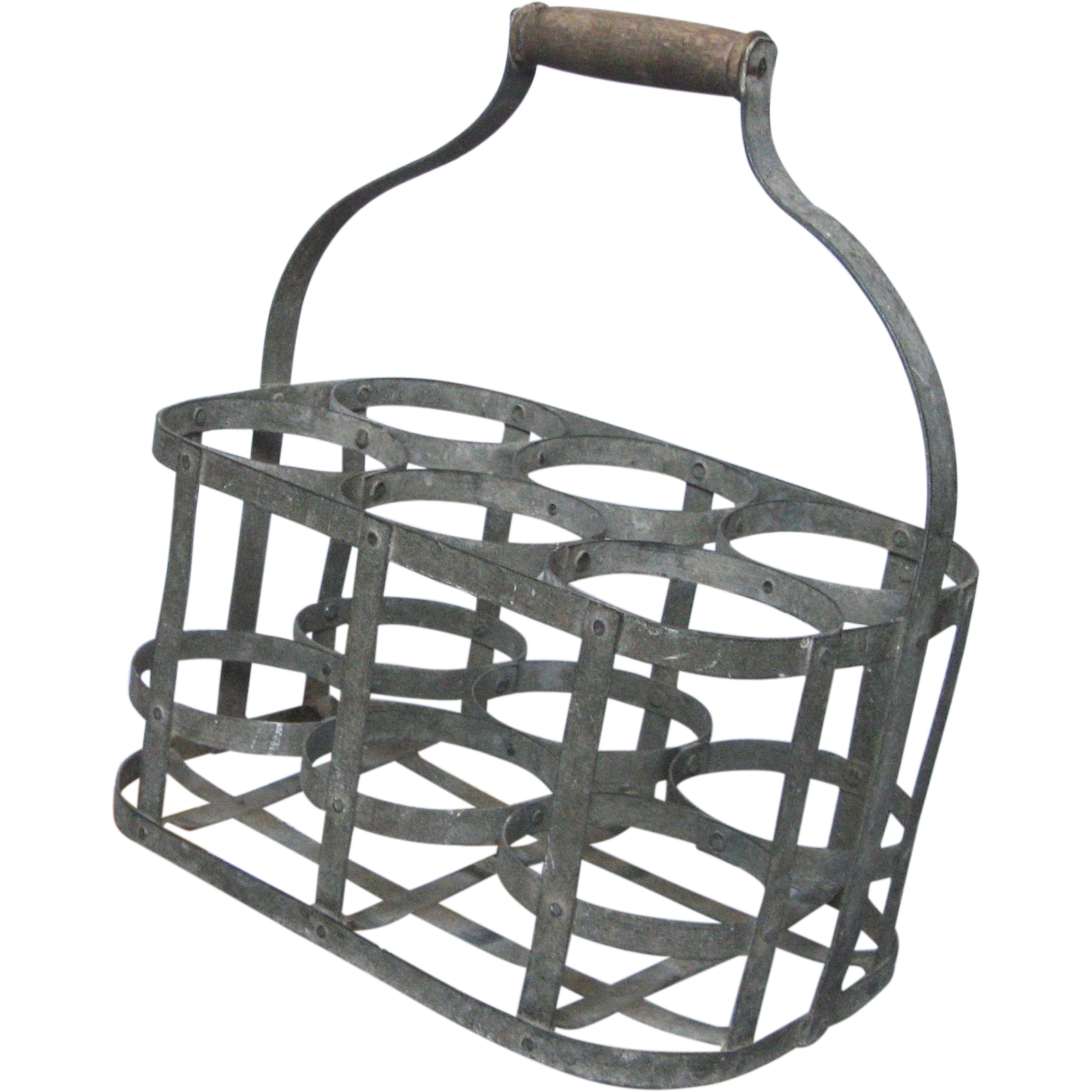 Very vintage french metal wine bottle carrier wine caddy from yesterdaysfrance on ruby lane - Wire wine bottle carrier ...