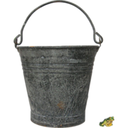Vintage Zinc Metal French Bucket / Pail