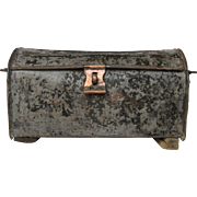 Very Vintage Industrial French Tool Box with Copper Closure