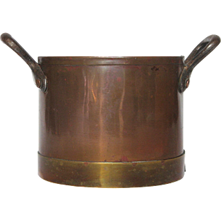 Early Vintage French Copper Pot