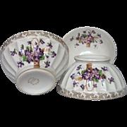 Trio of French Porcelain Cafe Au Lait Bowls